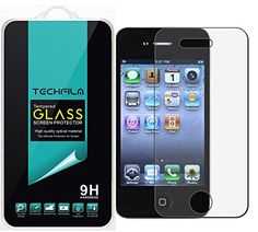 TechFilm  Apple iPhone 4  4S Tempered Glass Screen Protector Premium Ballistic Glass Round Edge 03mm UltraClear AntiScratch AntiFingerprint Bubble Free 1 Pack Retail Packaging -- You can find more details by visiting the image link.