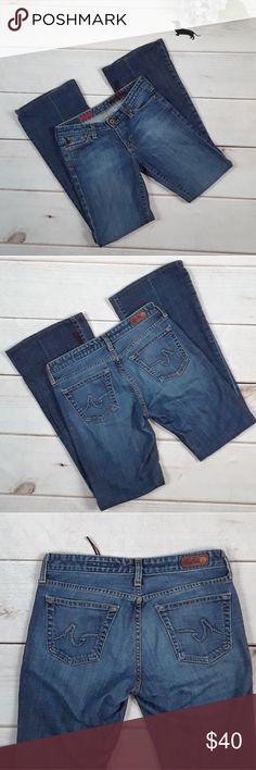 Adriano Goldschmied The Club flare jeans. Sz 27 R. Adriano Goldschmied The Club flare jeans. Size 27R. Great condition. Very slight wear on bottom hems.  Inseam=31.5 inches  Rise=7.5 inches Flare=9.5 inches Ag Adriano Goldschmied Jeans Flare & Wide Leg