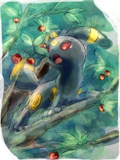 Umbreon Umbreon And Espeon, Pokemon Eeveelutions, Cute Pikachu, Cute Pokemon, Gif Pokemon, Pokemon Pictures, Warrior Cats, Rwby, Blue Flowers