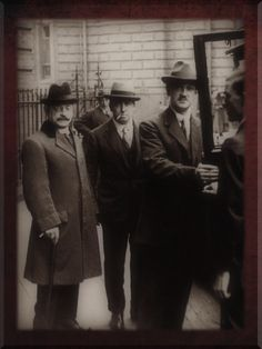 Arthur Griffith, Robert Barton, Michael Collins at Treaty Negotiations.