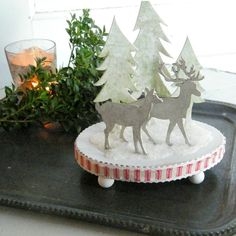 Happy Holidays Deer Winter Holiday Christmas Decoration