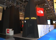 trade show booth - 'never stop exploring'