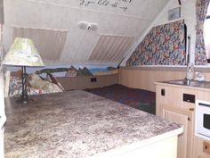 View from the door, bed side. Aliner Campers, Door Bed, Small Trailer, Glamping, Storage Ideas, Kids Rugs, Doors, Diy, Home Decor