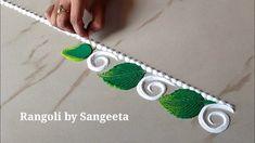 Simple Rangoli Border Designs, Easy Rangoli Designs Diwali, Basic Mehndi Designs, Rangoli Designs Latest, Rangoli Borders, Rangoli Designs Flower, Free Hand Rangoli Design, Small Rangoli Design, Rangoli Ideas
