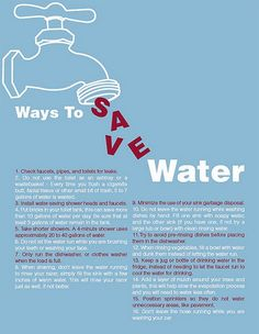 Ways to Save Water. #Eco Mindful Tips.