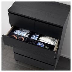 Storage solution. Seen on Ikea Hackers via Unclutterer