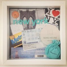 Turn your Holiday Memories into Art!  Make a Holiday / Vacation Shadow Box!  Step by Step Instructions at www.iovich.com  #craft #shadowbox #art