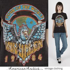 Van Halen T Shirt 1984 Tour of the World Rock by AmericanArchive