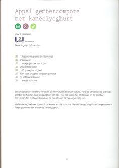 Weight Watchers - Appel-gembercompote met kaneelyoghurt