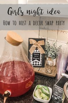Today I'm sharing a great girls night idea on how to throw a décor swap party! Girls Night Crafts, Craft Night, Favorite Things Party, Ladies Night, Girl Night, Swap Party, Party Entertainment, Gift Exchange, Craft Party