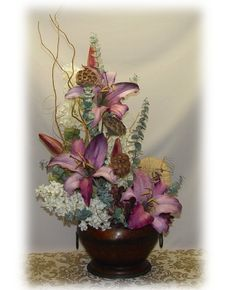 floral arrangments | ... see our fall decorations silk flower arrangements elegant silk florals