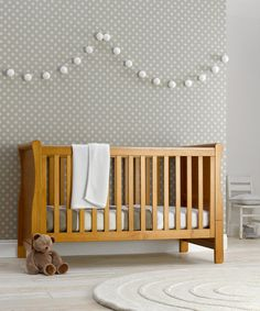 Mothercare Chiltern Sleigh Cot Bed- Antique also like wallpaper ; Baby Owl Nursery, Nursery Twins, Baby Nursery Neutral, Safari Nursery, Baby Boy Nurseries, Baby Cribs, Wooden Baby Crib, Sleigh Cot Bed, Cot Bedding