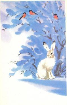 Каневский В 1979 г. Заяц и снегири