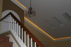 Lighted crown on a vaulted ceiling - contemporary - spaces - san diego - TFLarkin, Inc Crown Molding Installation, Garden Structures, Home Renovation, Home Organization, Home Projects, Sweet Home, New Homes, Stairs, House Design