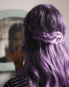 Pretty purple pastel coloured hair.