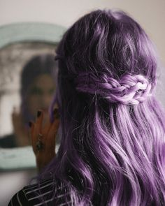 Pretty purple pastel coloured hair.