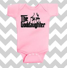 The Goddaughter baby girl bodysuit in Pink by SimplyChicBabyShop, $14.95