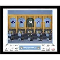 Personalised Manchester City Dressing Room Print from Personalised Gifts Shop - ONLY Sports Gifts, Goalkeeper, Manchester City, Gifts For Boys, Dressing Room, Personalized Gifts, Photo Gifts, Great Gifts, Football