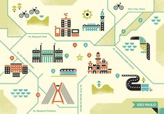 Ty Wilkins and Brent Couchman made an illustrated map of Sao Paulo, Brazil for Monocle Magazine.