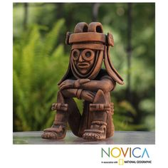 @Overstock - Ceramic 'Rain God Tlaloc' Figurine (Mexico) - Angel Ceron honors Tlaloc, god of earthly waters and fertility, with a handcrafted ceramic figurine. The people from Mexico's Teotihuacan culture believed Tlaloc to be responsible for drought as well as for floods, as seen in this figurine.  http://www.overstock.com/Worldstock-Fair-Trade/Ceramic-Rain-God-Tlaloc-Figurine-Mexico/7744211/product.html?CID=214117 $76.99