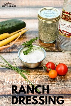 Never buy another bottle of ranch dressing! This homemade version is so easy even a child can make it. Not to mention it's so much healthier!