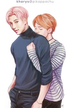 """ namjoon x jimin ☆ commission 