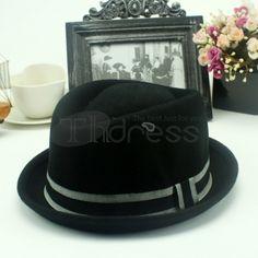 Woolen Topper Bowler Hat, Hats, Fashion, Moda, Hat, Fashion Styles, Fashion Illustrations, Hipster Hat