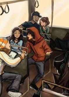 Every fandom needs a bus ride au. (Bus rides deserve their own universe yeah.)