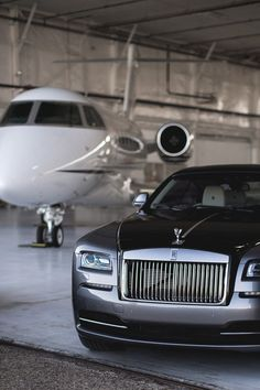 Rolls Royce and Private Jet Get into the glamour and expensive taste vibes, all about rich goals and luxury lifestyle dreams are here, so don't worry about those living Voiture Rolls Royce, Rolls Royce Cars, Jets Privés De Luxe, Jet Privé, Luxury Private Jets, Billionaire Lifestyle, Best Luxury Cars, Koenigsegg, Sport Cars