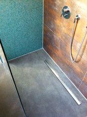 Wandspachtelung Betonoptik begehbare Dusche
