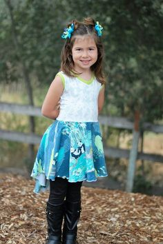 Girl's Be Confident Tunic PDF Sewing Pattern by Ellie and Mac