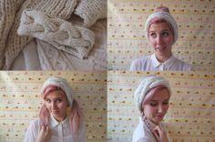 alyssa in her own simcoe headband of merino wool