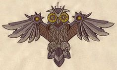 Clockwork Owl | Urban Threads: Unique and Awesome Embroidery Designs