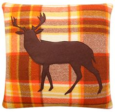 Buy eco friendly homewares online including Deer vintage accent cushions, accent pillows, contemporary home decor, and home accessories. Contemporary Home Decor, Orange Brown, Beautiful World, Accent Pillows, Home Accessories, Deer, Moose Art, Animals, Vintage
