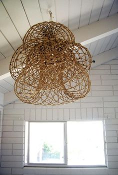 Rustic Handwoven Lamps from a Brit in LA : Remodelista