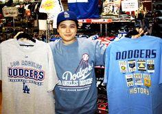 【大阪店】 2013年6月1日 いつもドジャースグッズをご購入して頂いてますクシダ様★今日もドジャースコーデがお洒落ですね♪ #mlb