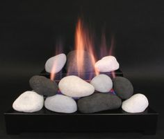 ventless gas fireplace fire rock alternative to wood burning fireplaces