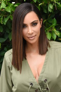 Kim Kardashian's Lob Has Us All Reaching For The Scissors - Bob Hairstyles: This Season's Coolest Celeb Cut