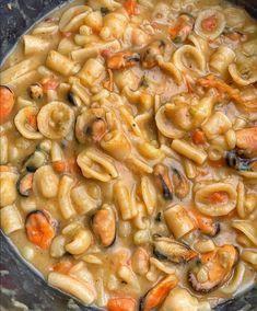 Fish Recipes, Appetizer Recipes, Appetizers, Confort Food, Pasta E Fagioli, Gnocchi, Paella, Macaroni And Cheese, Shrimp
