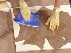 paint glaze torn paper | How To Create Faux Leather Using Kraft Paper : How-To : DIY Network
