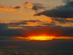 Moriel - Sunset at sea - night 1 on the Atlantic