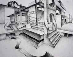 Perspective by Victoria Richland, via Flickr    2-point project ideas--Surreal Interiors