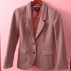 H&M Grey Blazer with elbow pads Stylish grey blazer with elbow pads, warm and cozy! Very lightly worn! (Only once or twice!) H&M Jackets & Coats Blazers