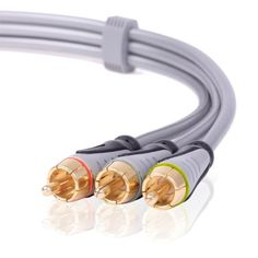 CE Compass Premium 15FT Gold RCA Stereo Audio Cable 3RCA To 3 RCA Male to Male for DVD, HD-TV by CE Compass. $8.50. RCA Stereo Audio cables are excellent for connecting your Stereo, DVD, HD-TV, and all other home theater audio involved equipment. These high performance gold contact cables are colored for easy installation and identification of left and right channels and are 100 percent shielded offering superb protection against EMI/RFI interference.