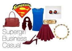 """""""Supergirl-Inspired Business Casual"""" by leclairedelune ❤ liked on Polyvore featuring Vince Camuto, Versace, Peter Kaiser, Maiyet, Noir, Me & Kashmiere, supergirl and GeekyOfficewear"""