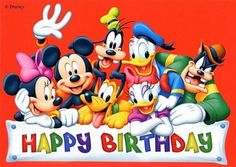 """""""Happy Birthday to You"""" starring Mickey Mouse and the Disney House of Mouse Orchestra Happy Birthday Mickey Mouse, Cute Happy Birthday, Happy Birthday Pictures, Happy Birthday Messages, Happy Birthday Greetings, Birthday Quotes, Disney Birthday Wishes, Disneyland Birthday, Fairy Birthday"""
