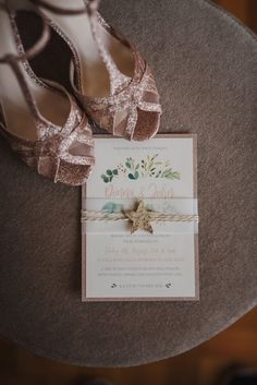 Gorgeous gold wedding shoes Got Married, Getting Married, Catherine Deane Wedding Dress, Glitter Wedding Shoes, Our Wedding, Destination Wedding, Floral Invitation, Outdoor Ceremony, Pastels