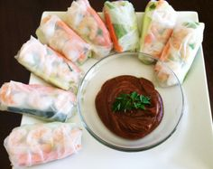 Quinoa Spring Rolls!.... going to try to substitute the shrimp for something else