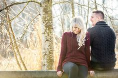 Enchanting Winter Woods Engagement Portraits | L Estelle Photography | See more! http://heyweddinglady.com/enchanted-winter-woods-engagement-from-lestelle-photography/