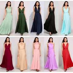 Long Formal Evening Prom Party Dress Bridesmaid Dresses Ball Gown Cocktail Dress #Unbranded #BeachDressSundressBridesmaidDress #Formal